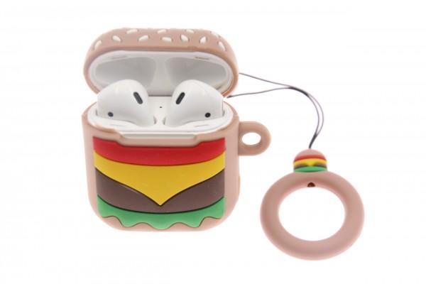 Airpod Case Cheesburger, Silikon